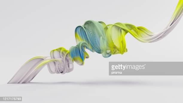 objeto ondulado abstracto - blanco color fotografías e imágenes de stock