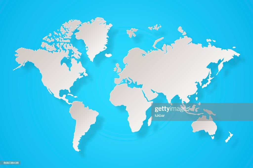 Abstract white world map on light blue background stock photo abstract white world map on light blue background stock photo gumiabroncs Image collections