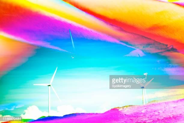 Abstract windmill art