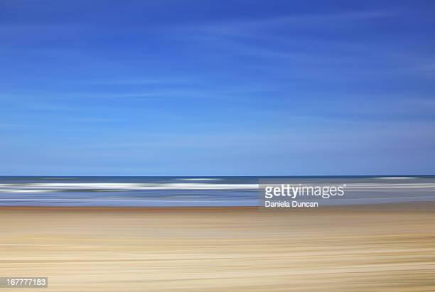 Abstract with sky, sea, sand