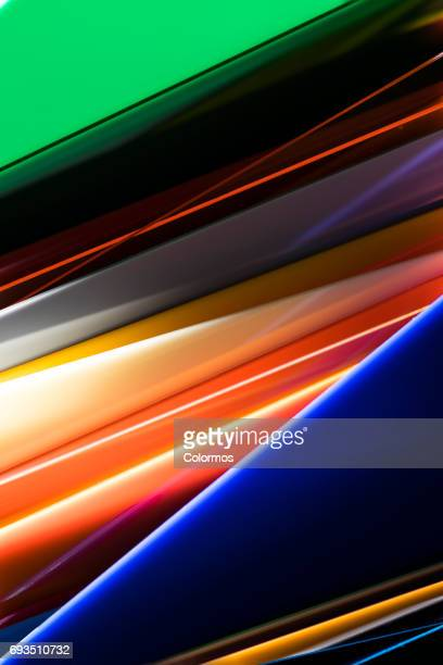 abstract work of multi colored acrylic boards - acrylic glass stock pictures, royalty-free photos & images
