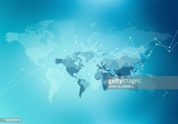 abstract world map graph - world map stock pictures, royalty-free photos & images