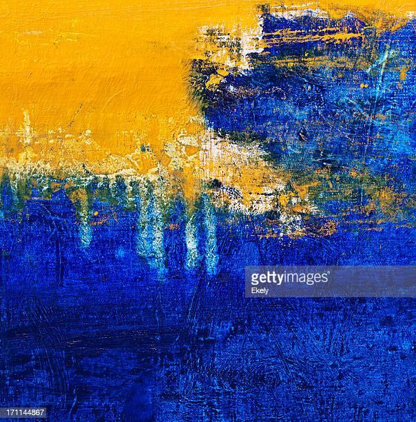Abstrato, amarelo e azul de fundo de arte.