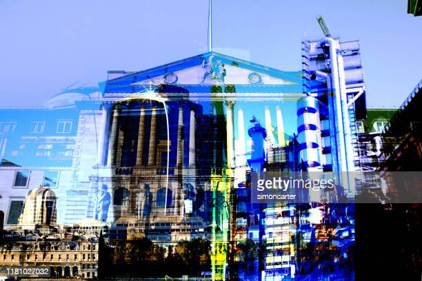 abstracted city of london buildings. - authority stock pictures, royalty-free photos & images