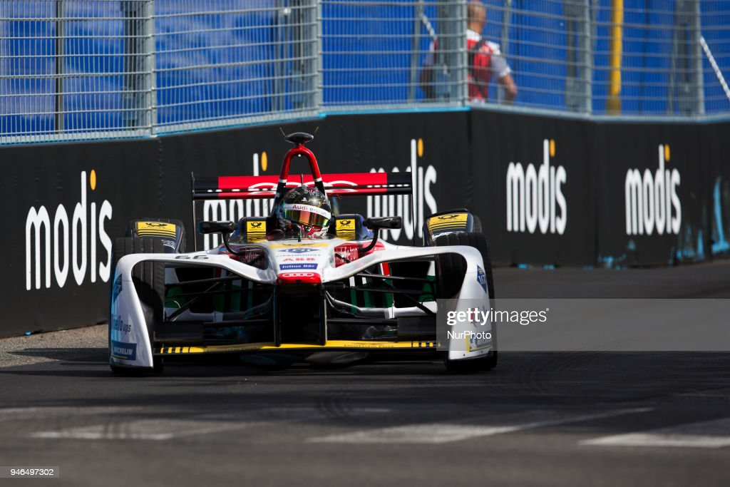 D. Abt of Audi Sport Racing during Rome E-Prix Round 7 as part of the ABB FIA Formula E Championship on April 14, 2018 in Rome, Italy.