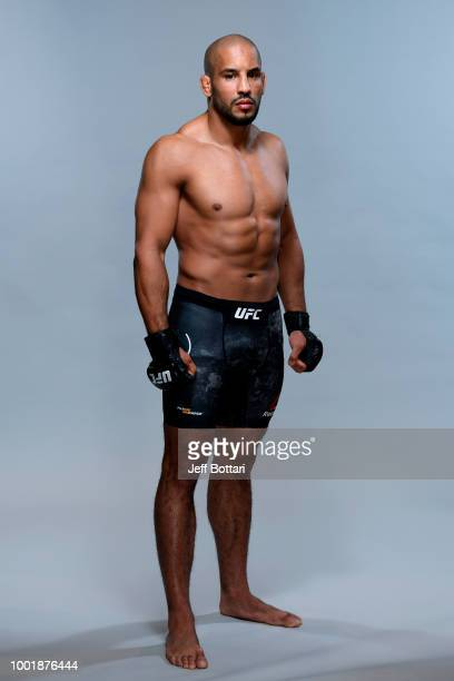 Abu Azaitar of Germany poses for a portrait during a UFC photo session on July 19 2018 in Hamburg Germany