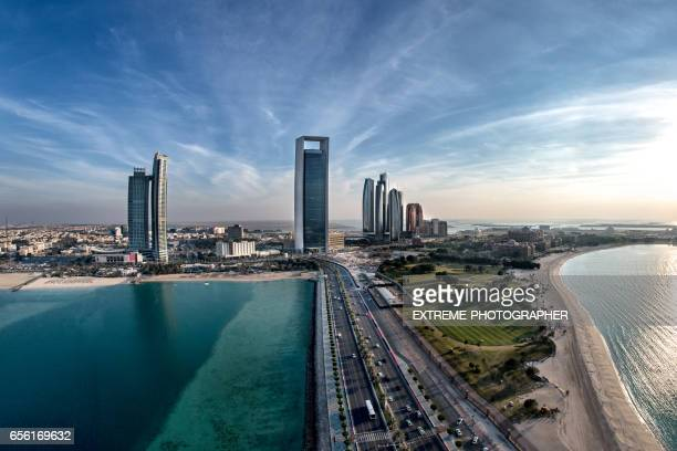 abu dhabi aerial view - national landmark stock pictures, royalty-free photos & images