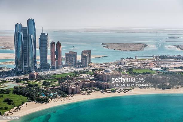 Abu Dhabi area vista dall'elicottero