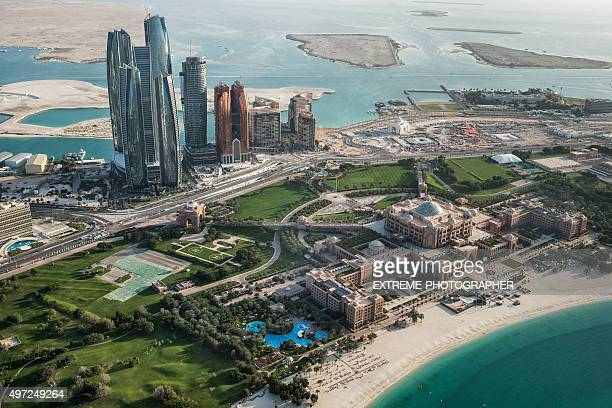 Abu Dhabi area viewed from the sky