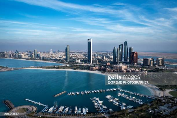 abu dhabi bay - national landmark stock pictures, royalty-free photos & images