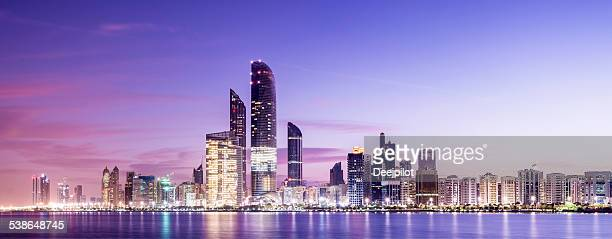 Abu Dhabi City Skyline United Arab Emirates
