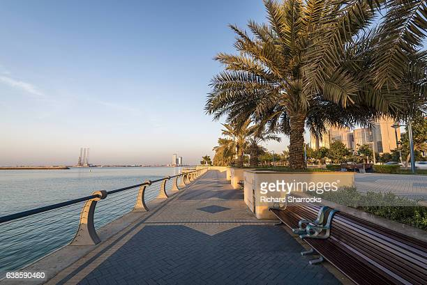 abu dhabi corniche - waterfront stock pictures, royalty-free photos & images