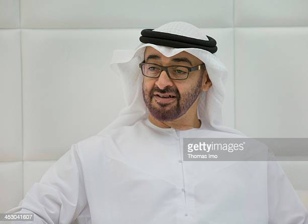 Abu Dhabi Crown Prince Sheikh Mohammed Bin Zayed Al Nahyan pictured on November 13 2013 in Abu Dhabi United Arab Emirates