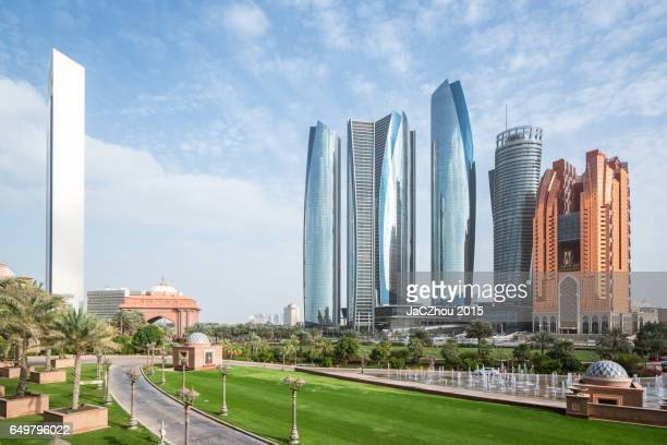 abu dhabi financial district - abu dhabi stock photos and pictures