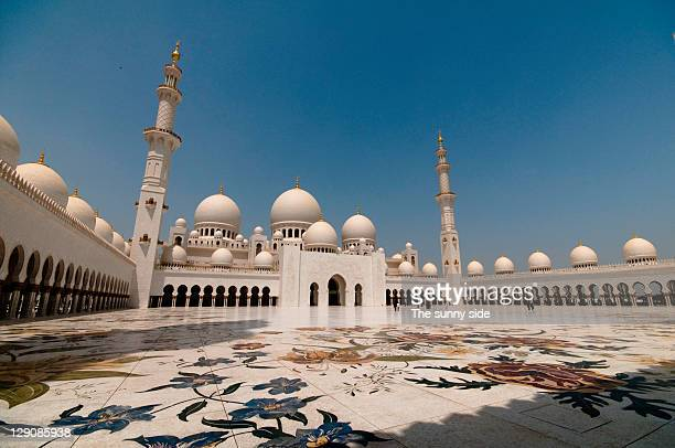 Abu Dhabi Grand Mosque courtyard