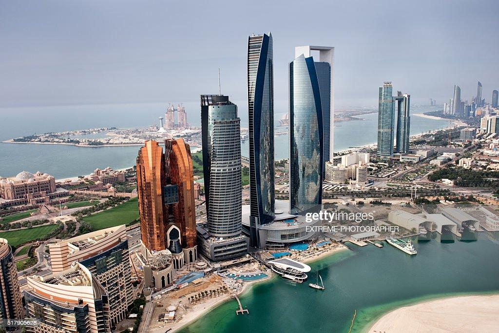 Abu Dhabi landmarks : Stock Photo