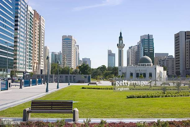 abu dhabi mosque - holy city park stock pictures, royalty-free photos & images