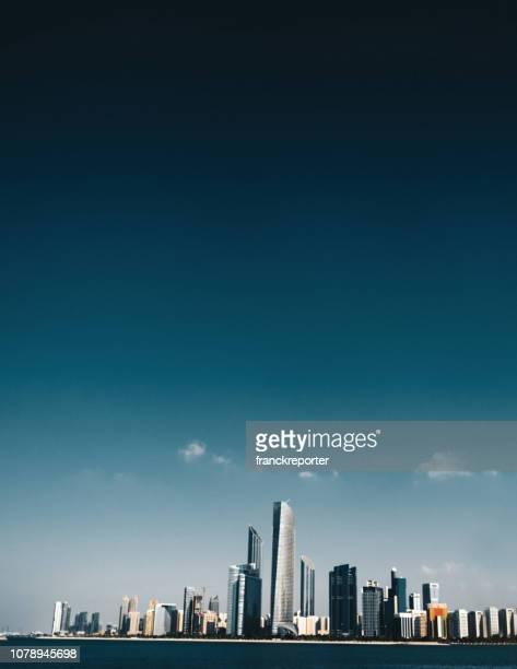 abu dhabi skyline - abu dhabi stock pictures, royalty-free photos & images