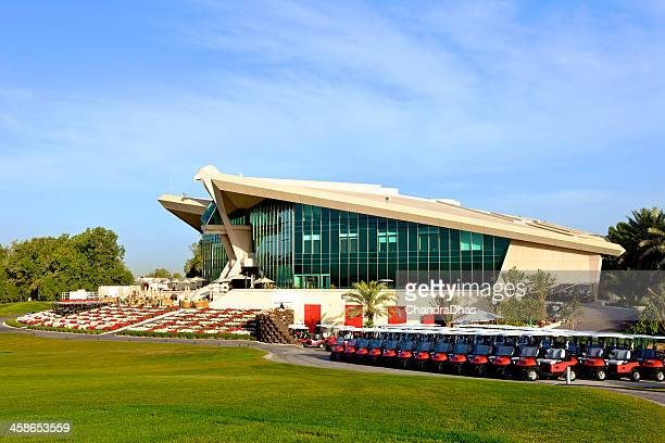 abu dhabi, uae - golf, club house - abu dhabi golf stock pictures, royalty-free photos & images