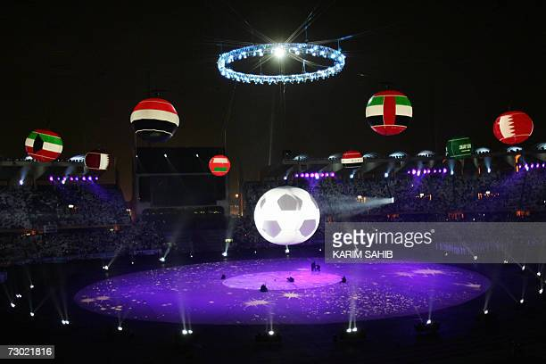 Abu Dhabi, UNITED ARAB EMIRATES: A general view shows the opening ceremony of the 18th Gulf Cup in the Emirati capital Abu Dhabi 17 January 2007....