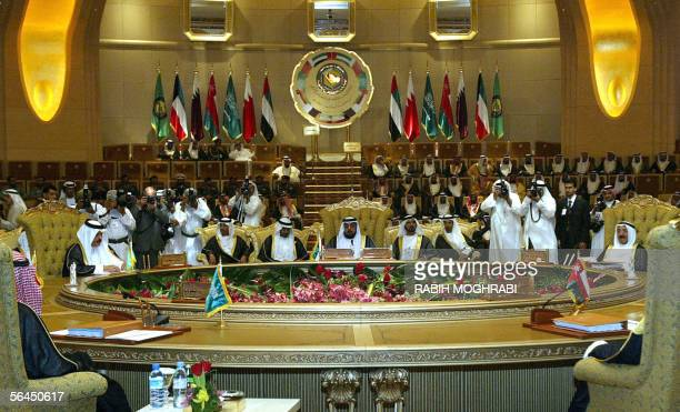 Leaders of the Gulf Cooperation Council attend the opening session of their 26th annual summit in Abu Dhabi 18 December 2005 All heads of GCC states...