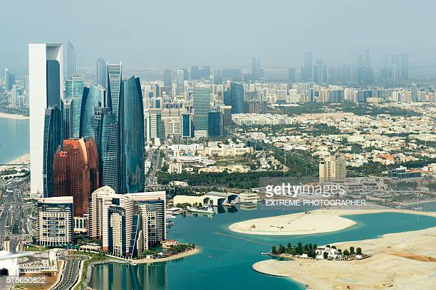 Abu Dhabi viewed from the sky