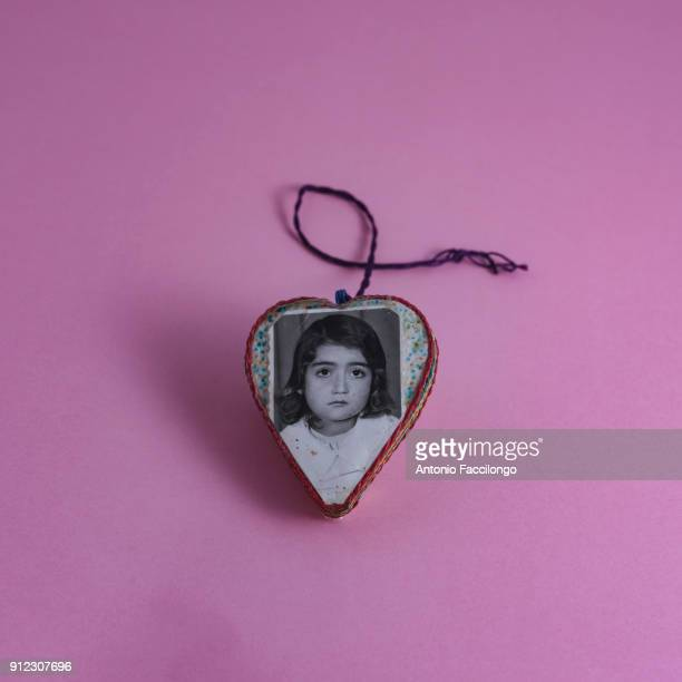 Abu Dis A heartshaped medallion made by a prisoner while he was in prison for his daughter This and many other objects are kept in the 'Abu Jihad...