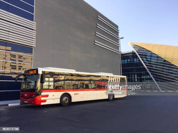 abu hail metro and bus station in deira - bus stock pictures, royalty-free photos & images