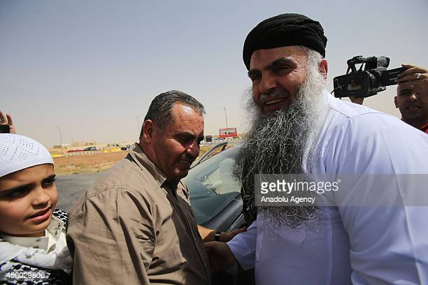 Abu Qatada whose real name is Omar Mahmoud Othman feels joyful moments with his family members after being released from Al Muwaqar prison after...