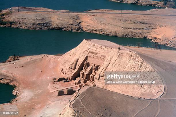 Abu Simbel from the air.