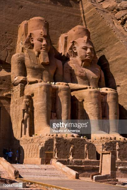Abu Simbel site of two temples built by the Egyptian king Ramses II reigned 1279_13 BCE now located in Aswan muhafazah governorate southern Egypt