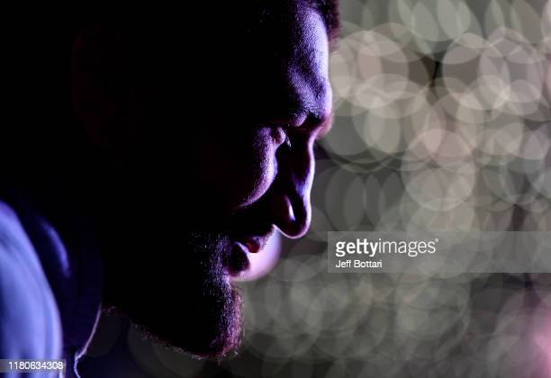 Abubakar Nurmagomedov interacts with media during UFC Fight Night Ultimate Media Day at Arbat Hall on November 7, 2019 in Moscow, Russia.