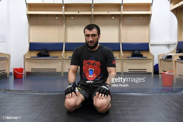 Abubakar Nurmagomedov of Russia warms up prior to his fight during the UFC Fight Night event at CSKA Arena on November 09 2019 in Moscow Russia