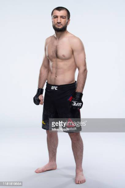 Abubakar Nurmagomedov poses for a portrait during a UFC photo session on November 6 2019 in Moscow Russia