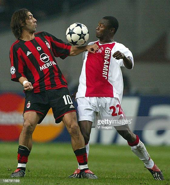 Abubakari Yakubu during the UEFA Champions League group match between Ajax and AC Milan at the Amsterdam Arena on November 26 2003 at Amsterdam...