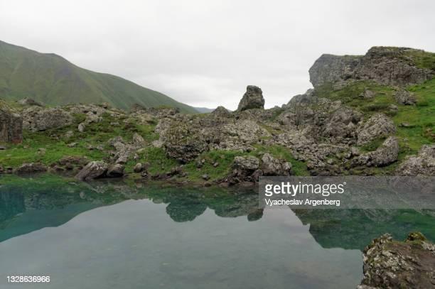 abudelauri glacier lake, caucasus mountains, georgia - argenberg stock pictures, royalty-free photos & images