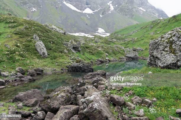 abudelauri lakes, chaukhi, georgia - argenberg stock pictures, royalty-free photos & images