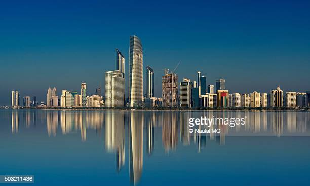 abudhabi skyline - abu dhabi stock pictures, royalty-free photos & images