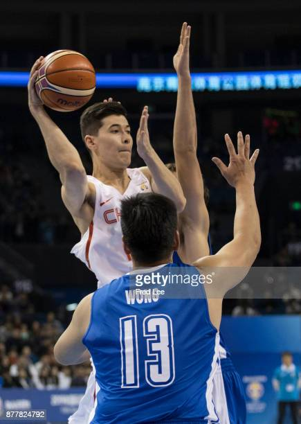 Abudushalamu Abudurexiti of China in action during the FIBA Basketball World Cup 2019 Qualifiers between China and Hong Kong at Youth Olympic Sports...