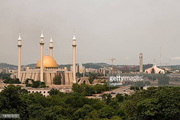 abuja city of mixed religion - nigeria stock pictures, royalty-free photos & images