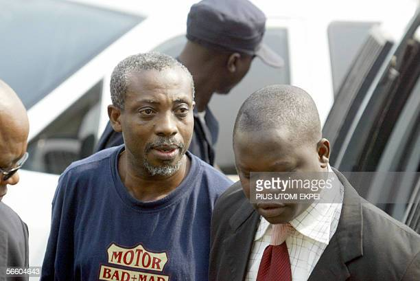 Leader of the banned Movement for the Actualisation of the Sovereign State of Biafra Ralph Uwazuruike is led by security operatives to the Federal...