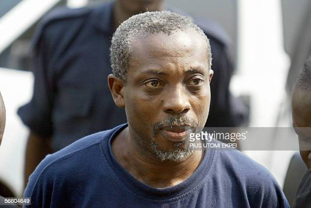 Leader of the banned Movement for the Actualisation of the Sovereign State of Biafra Ralph Uwazuruike arrives at the Federal High Court in Abuja 17...