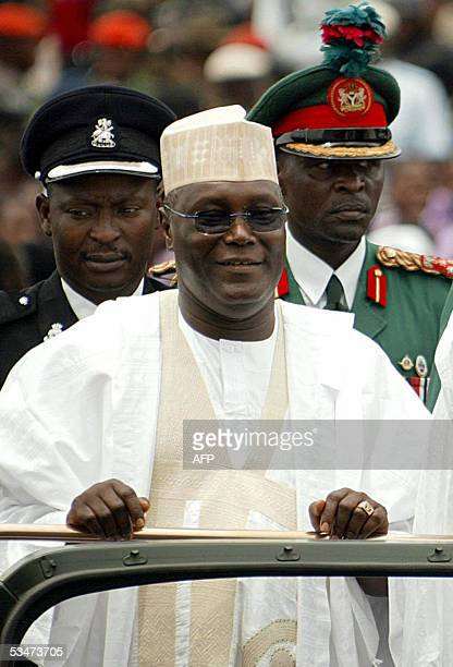 Nigerian VicePresident Atiku Abubakar is seen 29 May 2003 in Abuja after swearing in for a second term in office US federal agents have searched the...