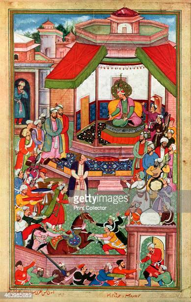 Abu'lFazl ibn Mubarak presenting the Akbarnama to Akbar Abu'lFazl ibn Mubarak was the vizier of Akbar the third Mughal emperor He was the author of...