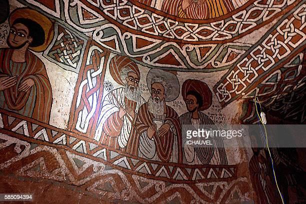 abuna yemata church ethiopia - ethiopian orthodox church stock pictures, royalty-free photos & images