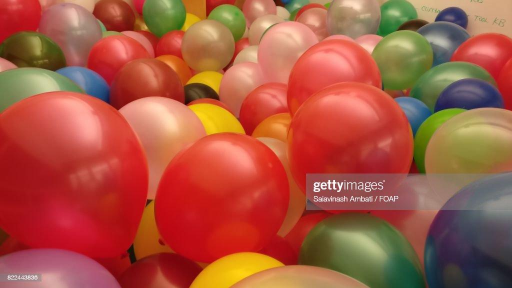 Abundance of shiny balloon : Stock Photo