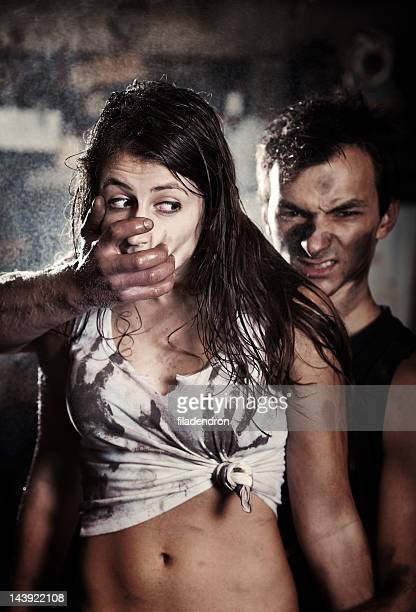 abuse - gagged woman stock pictures, royalty-free photos & images