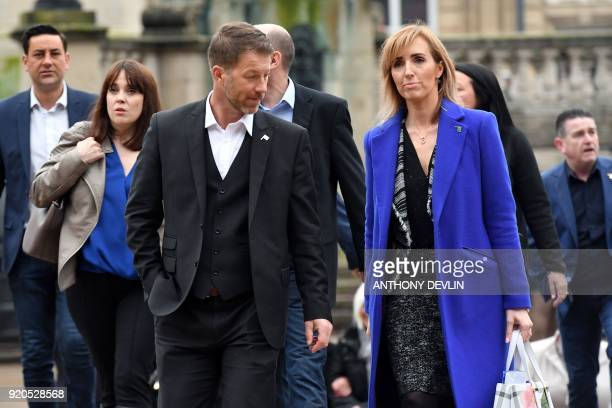 Abuse victims of former football coach Barry Bennell Steve Walters arrives at Liverpool Crown Court on February 19 2018 for the sentencing of former...