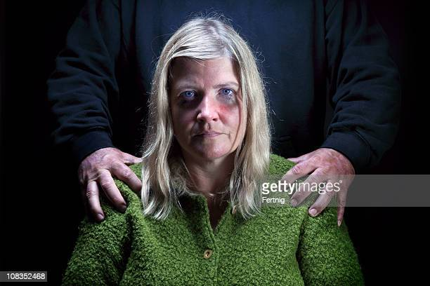 abused woman - domestic violence stock pictures, royalty-free photos & images