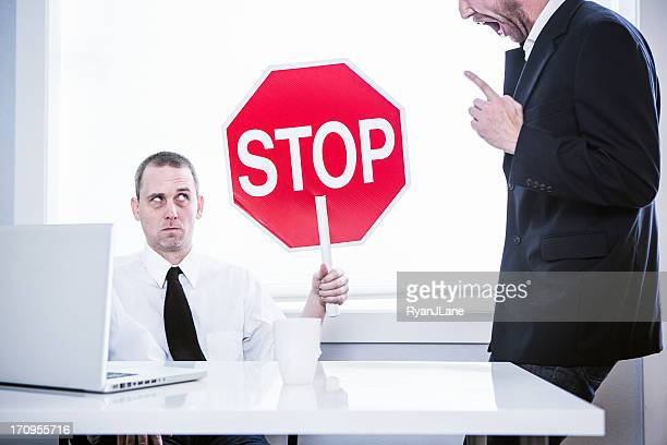 abusive office manager - threats stock pictures, royalty-free photos & images
